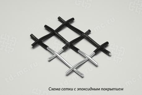 Сетка 12х10 эпоксидопокрытая НУ схема плетения - фото 4