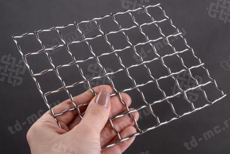 Сетка нержавеющая 20x2,5 из рифленой проволоки 12Х18Н9 - фото 2