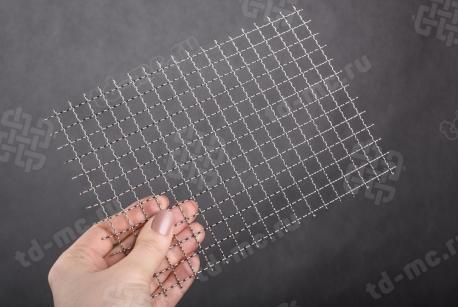 Сетка нержавеющая 10x1 из рифленой проволоки 12Х18Н9 - фото 2