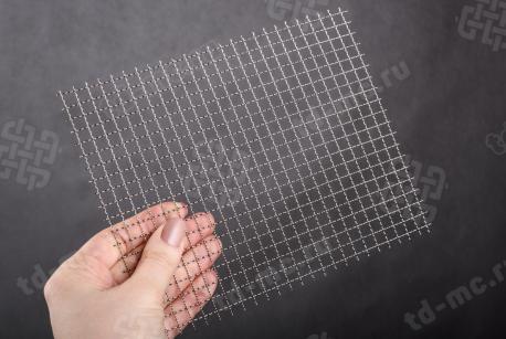 Сетка нержавеющая 7x0,7 из рифленой проволоки 12Х18Н9 - фото 2