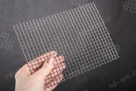 Сетка нержавеющая 6x1,2 из рифленой проволоки 12Х18Н9 - фото 2