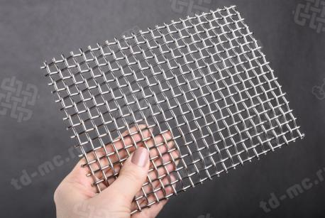 Сетка нержавеющая 6x2 из рифленой проволоки 12Х18Н9 - фото 2