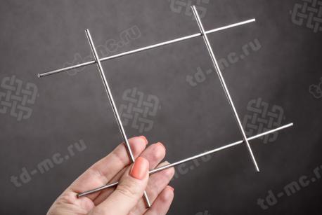 Сетка нержавеющая сварная 100х100х3 сталь 12Х18Н9 - фото 2