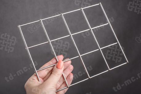 Сетка нержавеющая сварная 50х50х3 сталь 12Х18Н9 - фото 2