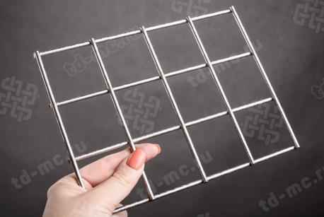 Сетка нержавеющая сварная 50х50х4 сталь 12Х18Н9 - фото 2