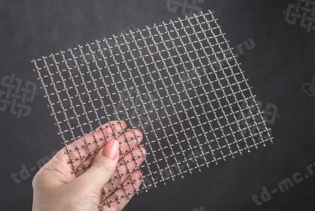 Сетка нержавеющая 8x1 из рифленой проволоки 12Х18Н9 - фото 2