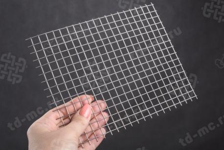 Сетка нержавеющая сварная 10х10х1 сталь 12Х18Н9 - фото 2