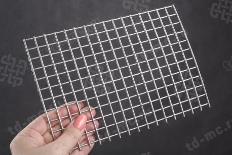 Сетка нержавеющая сварная 10х10х2 сталь 12Х18Н9 - фото 2