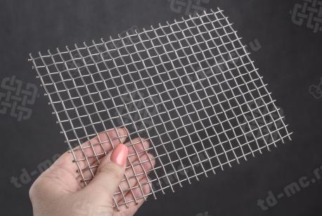 Сетка нержавеющая 18x1,6 из рифленой проволоки 12Х18Н9 - фото 2