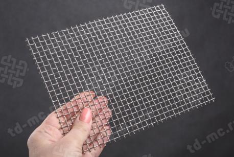 Сетка нержавеющая 5x1 из рифленой проволоки 12Х18Н9 - фото 2