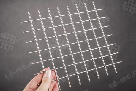 Сетка нержавеющая сварная 25х25х3 сталь AISI 201 - фото 2
