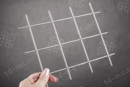 Сетка нержавеющая сварная 60х60х3 сталь 12Х18Н9 - фото 2