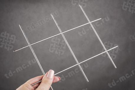 Сетка нержавеющая сварная 80х80х3 сталь 12Х18Н9 - фото 2