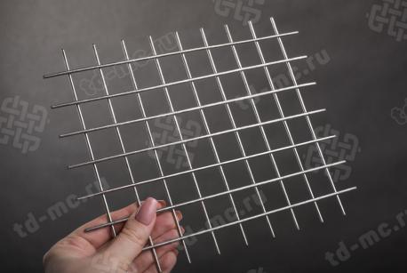 Сетка нержавеющая сварная 25х25х2 сталь 12Х18Н9 - фото 2