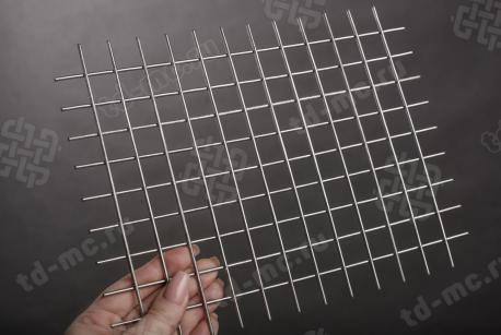 Сетка нержавеющая сварная 20х20х2,5 сталь 12Х18Н9 - фото 2