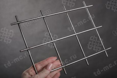 Сетка нержавеющая сварная 75х75х5 сталь 12Х18Н9 - фото 2