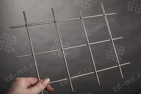 Сетка нержавеющая сварная 75х75х4 сталь 12Х18Н9 - фото 2
