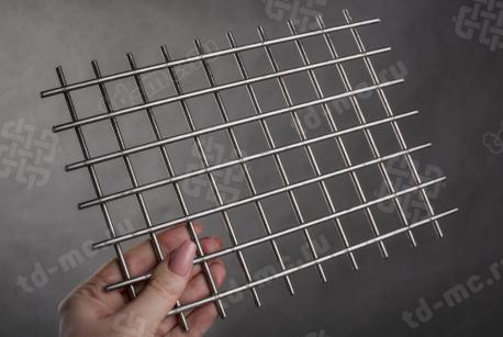 Сетка нержавеющая сварная 25х25х4 сталь 12Х18Н9 - фото 2