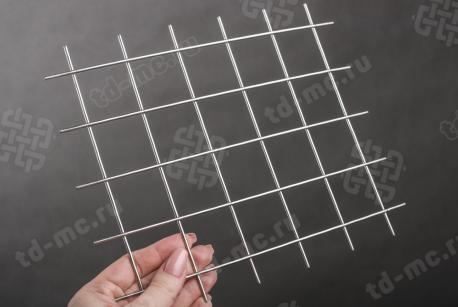 Сетка нержавеющая сварная 40х40х2,5 сталь 12Х18Н9 - фото 2