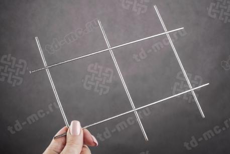 Сетка нержавеющая сварная 90х90х3 сталь 12Х18Н9 - фото 2