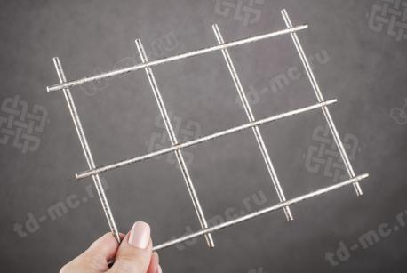 Сетка нержавеющая сварная 60х60х4 сталь 12Х18Н9 - фото 2