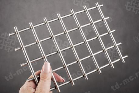 Сетка нержавеющая сварная 30х30х5 сталь 12Х18Н9 - фото 2