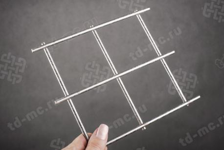Сетка нержавеющая сварная 70х70х5 сталь 12Х18Н9 - фото 2