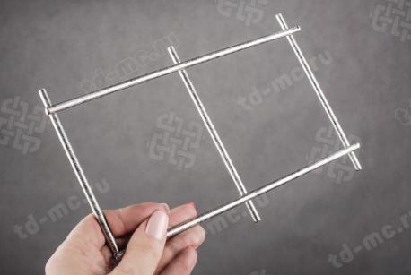 Сетка нержавеющая сварная 100х100х5 сталь 12Х18Н9 - фото 2