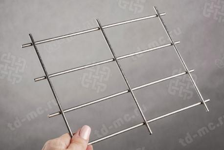 Сетка нержавеющая сварная 50х100х4 сталь 12Х18Н9 - фото 2