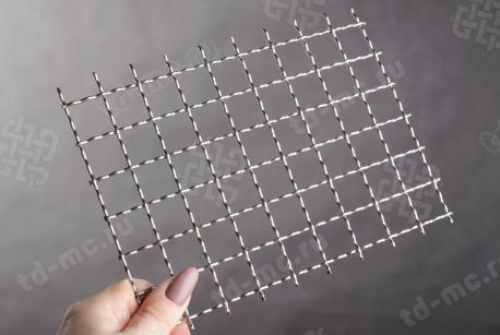 Сетка нержавеющая 20x2 из рифленой проволоки 12Х18Н9 - фото 2