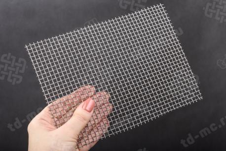 Сетка нержавеющая 4x1,0 из рифленой проволоки 12Х18Н9 - фото 2