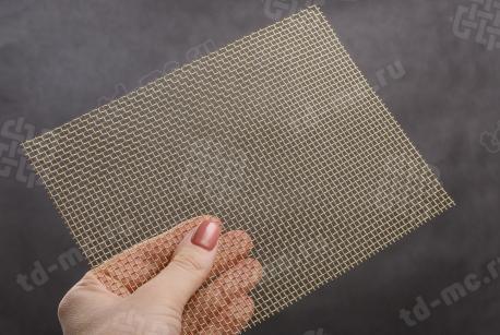 Сетка латунная 2,5x0,5 - фото 2