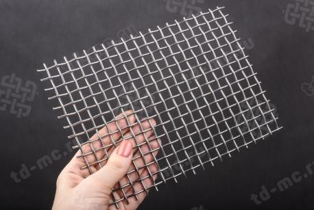 Сетка нержавеющая 8x2 из рифленой проволоки 12Х18Н9 - фото 2