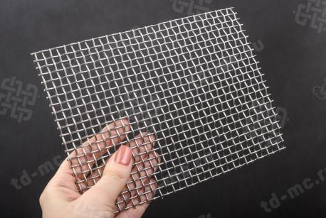 Сетка нержавеющая 5x1,6 из рифленой проволоки 12Х18Н9 - фото 2