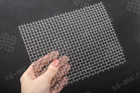Сетка нержавеющая 5x1,2 из рифленой проволоки 12Х18Н9 - фото 2