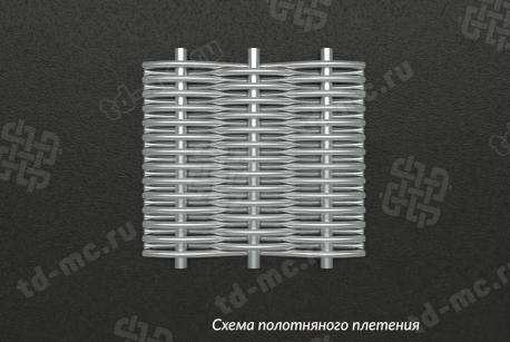Сетка нержавеющая П56 схема плетения - фото 5