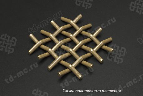 Сетка латунная 2х0,5 схема плетения - фото 4