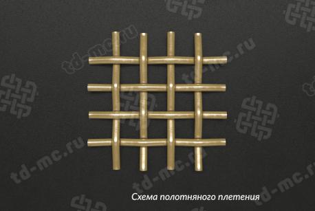 Сетка латунная 0,28x0,14 - фото 5