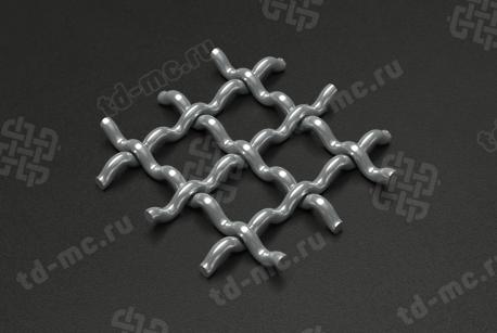 Сетка нержавеющая 20x2 рифленая
