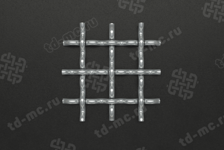 Сетка нержавеющая 20x2 рифленая - фото 2