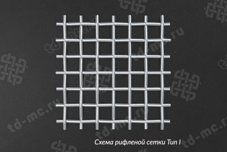 Сетка нержавеющая 5x2 из рифленой проволоки 12Х18Н9 - фото 4