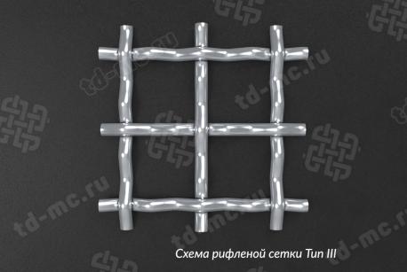 Сетка нержавеющая 5x1,2 из рифленой проволоки 12Х18Н9 - фото 5