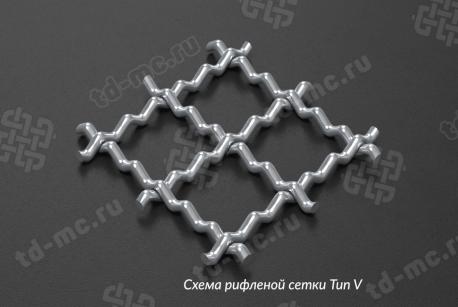 Сетка нержавеющая 10x1 из рифленой проволоки 12Х18Н9 - фото 3