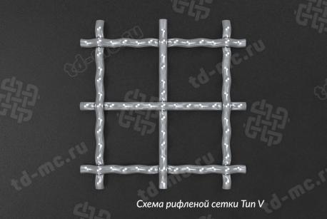 Сетка нержавеющая 27x2 из рифленой проволоки 12Х18Н9 - фото 2