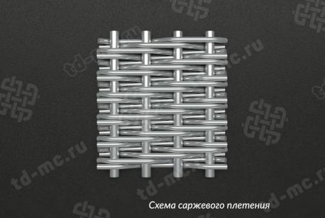 Сетка нержавеющая С100 схема плетения - фото 5