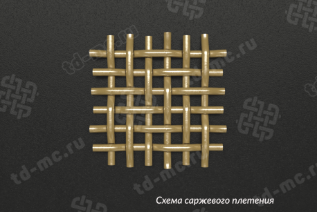 Сетка бронзовая 0,056х0,04 схема плетения - фото 5