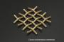 Сетка латунная 0,08x0,055 схема плетения - фото 4